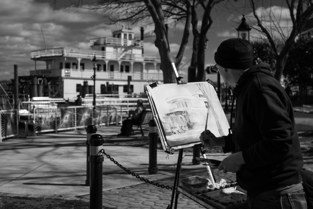 Artist Mark Parmelee, Alexandria Waterfront